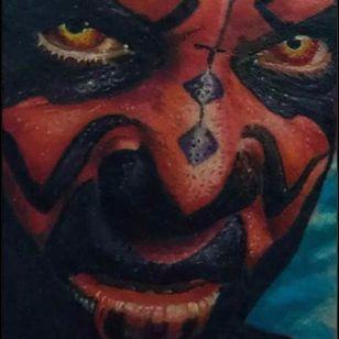 Detalhes por Deley Tattoo! #DeleyTattoo #TatuadoresBrasileiros #Realism #realistictattoo #darthmaul #starwars #starwarstattoo #sw #details