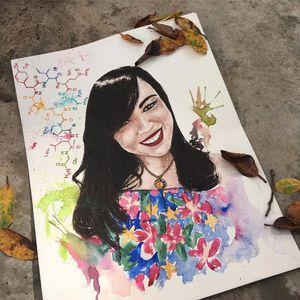 Van Souza #VanSouza #Inktober #desenho #drawing #desafio #challenge #tatuadoresdobrasil #retrato #portrait #colorida #colorful #aquarela #watercolor