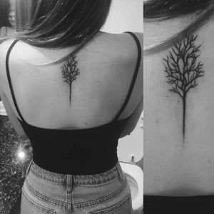 Simple tree by Benji Tobin #BenjiTobin #leaflesstree #tree #noleaves #fall #nature #blackwork