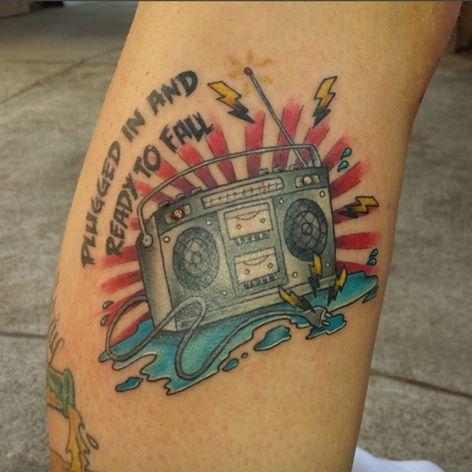 Alkaline Trio tattoo. (Via IG - shane_mac)