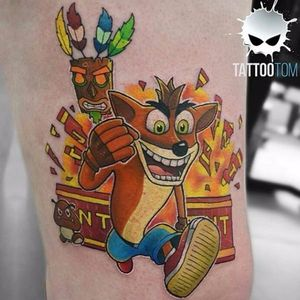 #TattooTom #Crash #crashbandicoot #sony #game #playstation #akuaku
