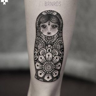 Russian doll tattoo #russiandoll #ElBernardes #geometric #linework