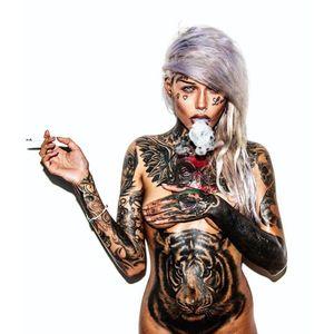 Elizabeth Mintodas, being a dream babe (Photo by Haris Nukem, featuring IG—elizabethmintodas) #HarisNukem #Photography #TattooedBabes #ArtShare #ElizabethMintados