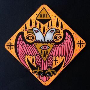 Neon eagle art #ChristinaHock #art #neon #eagle #traditional