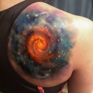 Galaxy tattoo by Brian Murphy. #galaxy #space #abstract #realism #colorrealism #BrianMurphy