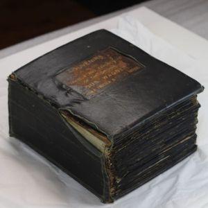 Gus Wagner's scrap book. #GusWagner #SouthStreetSeaportMuseum #tattoohistory