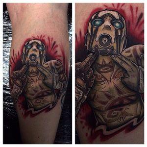 Borderlands Tattoo by Josh Docksey #Borderlands #Gaming #gamingtattoos #JohnDocksey