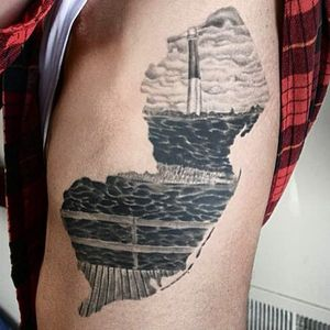 The interesting thing about this NJ tattoo is that it's actually pretty good. #newjersey #newjerseytattoo #jerseypridetattoo #njtattoo