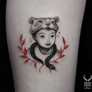 Subtle tattoo idea for dads – by Zihae. #Zihae #son #child #tattooeddad #southkorean