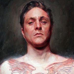 A self-portrait of Shawn Barber at 39 years old (IG—shawndbarber). #fineart #paintings #portraits #selfportrait #ShawnBarber #tattooists