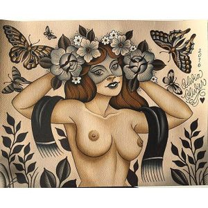 Flower nymph via instagram olivia_olivier #woman #scarf #butterflies #flowers #redhead #flashart #oliviaolivier