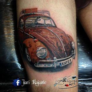 Enferrujado mas quem liga? #JariKajaste #Fusca #Beetle #volkswagen #carro #car #automovel #carlovers #realism #realismo #realismocolorido