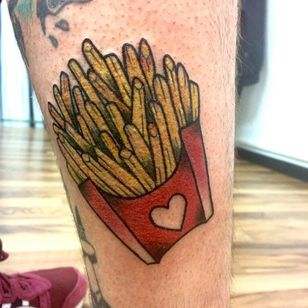 Fries by Larissa Listless (via IG -- larissalistless) #larissalistless #fry #fries #frenchfries #frytattoo #friestatoo #frenchfrytattoo #frenchfriestattoo
