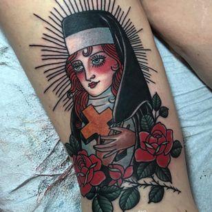 That nun sure does have a lot of blush on... (Via IG - drewlinden)