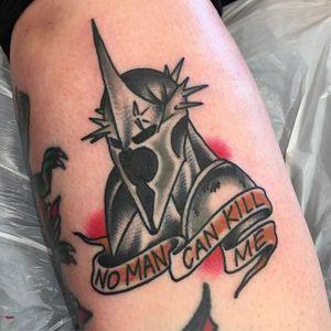 Witch King Tattoo by Tim Regard #witchking #witchkingofangmar #lordoftherings #jrrtolkien #middleearth #movies #TimRegard