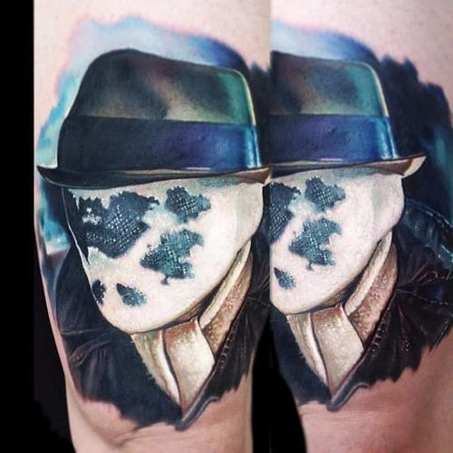 Rorschach Tattoo by Paul Acker #portrait #rorschach #watchmen #rabbit #comic #comicbook #PaulAcker
