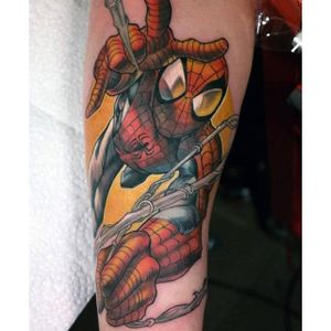 Spider-Man Tattoo by Luis Orellana #SpiderMan #Marvel #Superhero #Comic #LuisOrellana
