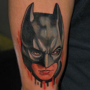 Batman Tattoo by Alex Ciliegia #batman #batmantattoo #popculture #popculturetattoo popculturetattoos #charactertattoos #portraittattoos #celebritytattoo #poptattoos #iconictattoos #AlexCiliegia