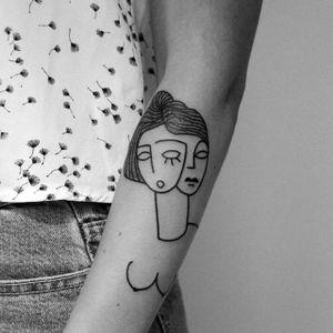 Contemporary tattoo by Carlo Amen #CarloAmen #minimalistic #linework #blackwork #contemporary