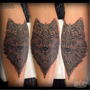 #lobo #wolf #CoenMitchell #mandala #pontilhismo #dotwork #fineline #blackwork #geometria #geometry #NovaZelandia #brasil #brazil #portugues #portuguese