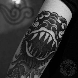 Demon by Low (via IG -- tattooer_low2) #low #haetae #korea