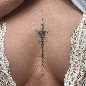Tiny ornamental tattoo by David Kafri #DavidKafri #besttattoos #ornamental #pattern #linework #dotwork #shapes #geometric #sacredgeometry #small #minimal #tiny #cute #triangle #tattoooftheday
