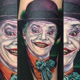 Joker Tattoo #Joker #Portrait #ColorPortrait #ColorRealism #PopCulture #AlexRattray