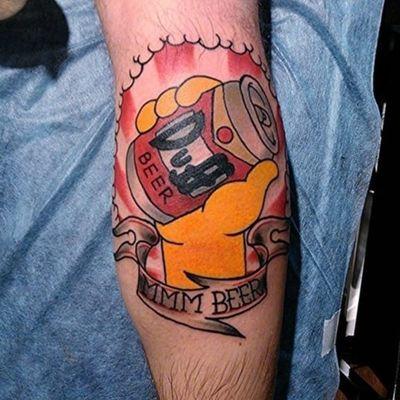 Sweet Duff Beer tattoo #duff #duffneer #dufftattoo #duffbeertattoo #thesimpsons #simpsonstattoo