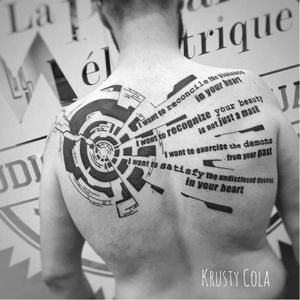 Muse tattoo by Krusty Cola #KrustyCola #graphic #blackwork #abstract #lettering #lyrics #muse #blckwrk