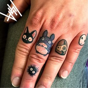 Miyazaki creatures tattooed by Issa #Issa #anime #japanese #manga #japan #HayaoMiyazaki #totoro