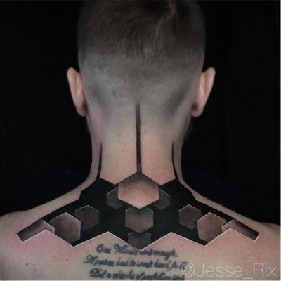 Apenas um blackwork 3d #JesseRix #realismo #realism #3d #gringo #geometric #geometrica #blackwork