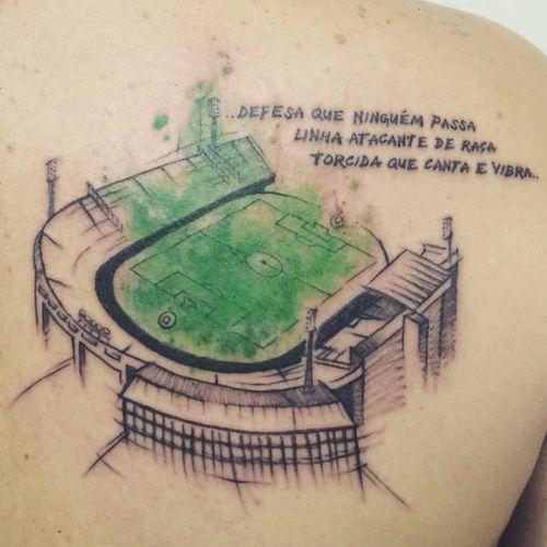 Estádio do Palmeiras. #DanielArtDesign #TatuadoresDoBrasil #TattoodoBR #aquarela #watercolor #sketch #futebol #soccer #palmeiras #estadio #stadium