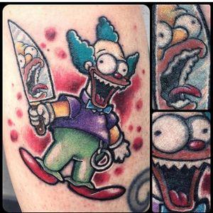 Krusty Tattoo by Lele Bianchi #krustytheclown #krusty #clown #cartoonclown #thesimpsons #simpsons #LeleBianchi
