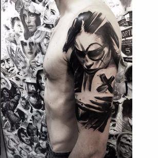 Graphic tattoo by Beppe Lazzari #BeppeLazzari #trashstyle #graphic #trashpolka