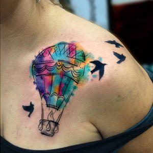 #balão #ballon #ChrisSantos #TatuadoresDoBrasil #aquarela #watercolor #coloridas #colorful #brasil
