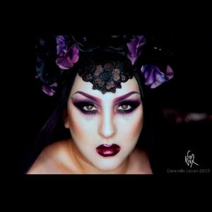 Incerdible make-up done by Kerosene herself Photo by Danielle Levan #KeroseneDeluxe #plusmodel #tattooedlady #model #fetish #pinup #tattoomodel #DanielleLevan