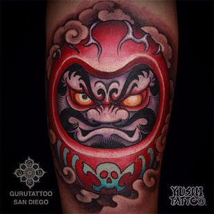 Daruma Tattoo by Yushi #daruma #japanese #asian #oriental #korean #koreanartist #Yushi
