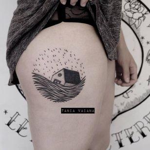 Storm tattoo by Tania Vaiana #TaniaVaiana #illustrative #minimalistic #blackwork