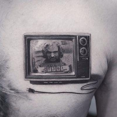 Sirius Black by Cold Gray #ColdGray #blackandgrey #realism #realistic #hyperrealism #harrypotter #siriusblack #wizard #tv #television #portrait #tattoooftheday
