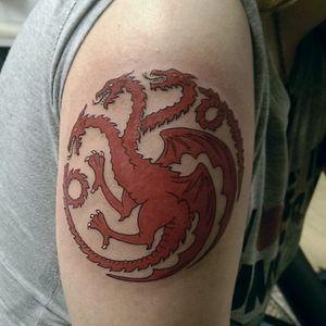 The Targaryen sigil. (Via IG - frans_planet_tattoos)