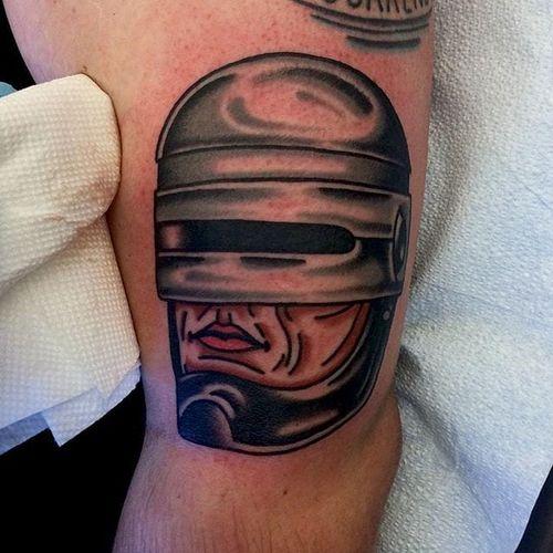 RoboCop Tattoo by Cam Davis #RoboCop #Cyborg #SciFi #Movie #CamDavis