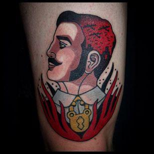 Devil Tattoo by Sebastian Domaschke #devil #traditional #neotraditional #bold #classic #oldschool #SebastianDomaschke