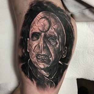 Voldemort by Anrijs Strum (via IG-anrijsstraume) #voldemort #realism #dark #portrait #blackandgrey #anrijsstraume