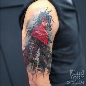 Vincent Valentine tattoo by Russell Van Schaick. #ff #ff7 #finalfantasy #videogame #RussellVanSchaick