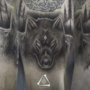 #lobo #wolf #RafXimenes #dotwork #pontilhismo #blackwork #natal #RioGrandeDoNorte #TatuadoresDoBrasil #brasil
