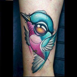 Hummingbird tattoo by Rude Eye #RudeEye #newschool #animal #cute #kawaii #babyanimal #hummingbird