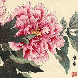 Japanese woodblock peony painting. #woodblock #art #painting #fineart