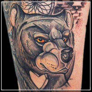 Sketch Style Bear Tattoo by Damian Thür @MrCoffee85 #DamianThür #Sketchstyle #sketchstyletattoo #Bear
