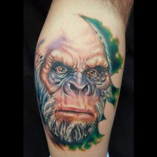An incredibly realistic depiction of a bigfoot from Christian Perez's porfolio (IG—christian1perez). #Bigfoot #color #portraiture #Sasquatch #Yeti