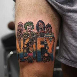 NOFX Longest EP tattoo (via IG -- skatepunkersofficial) #nofx #nofxtattoo